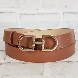 H & M Brown Leather Belt - S